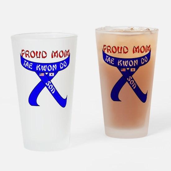 TKD Mom Son Drinking Glass