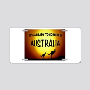 DOWN UNDER Aluminum License Plate