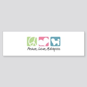 Peace, Love, Maltipoos Sticker (Bumper)