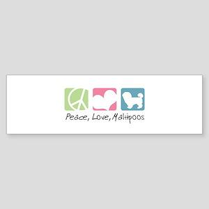 Peace, Love, Maltipoos Sticker (Bumper)