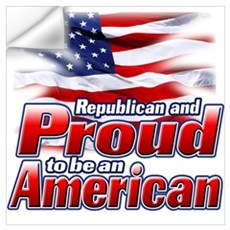 Republican and Proud to be an American Small Poste Wall Decal