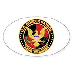 US Border Patrol Oval Sticker