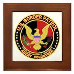 US Border Patrol Framed Tile