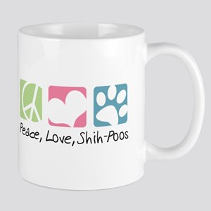 Peace, Love, Shih-Poos Mug