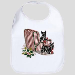 Scottie Dog Christmas Bib