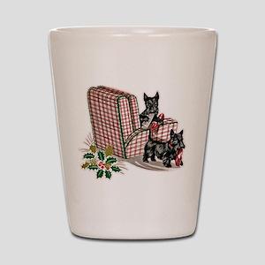 Scottie Dog Christmas Shot Glass