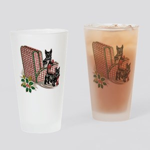 Scottie Dog Christmas Drinking Glass