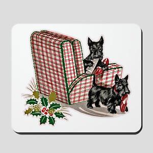 Scottie Dog Christmas Mousepad