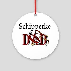 Schipperke Dad Ornament (Round)