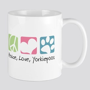Peace, Love, Yorkiepoos Mug