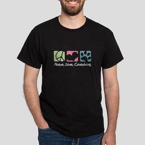 Peace, Love, Cavachons Dark T-Shirt