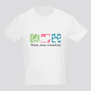 Peace, Love, Cavachons Kids Light T-Shirt