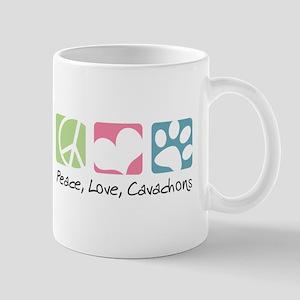 Peace, Love, Cavachons Mug