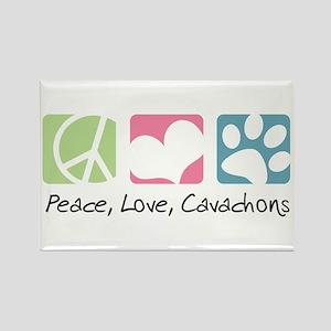 Peace, Love, Cavachons Rectangle Magnet