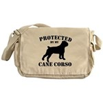 Protected by my Cane Corso Messenger Bag