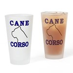 Cane Corso Logo Blue Drinking Glass