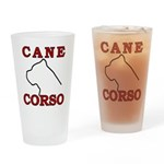 Cane Corso Logo Red Drinking Glass