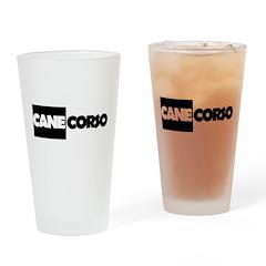 Cane Corso B&W Drinking Glass