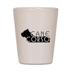 Black Cane Corso Shot Glass