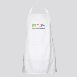 Peace, Love, Lhasapoos Apron