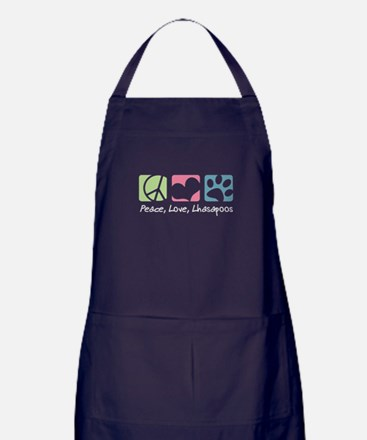 Peace, Love, Lhasapoos Apron (dark)
