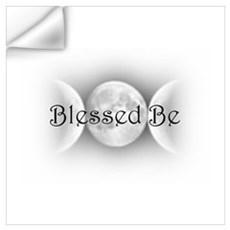 Blessed Be (triple crescent) Wall Decal