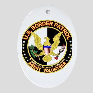 US Border Patrol Oval Ornament