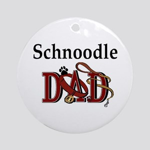 Schnoodle Dad Ornament (Round)