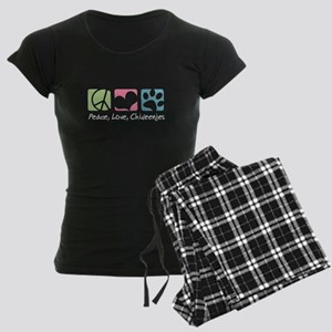 Peace, Love, Chiweenies Women's Dark Pajamas