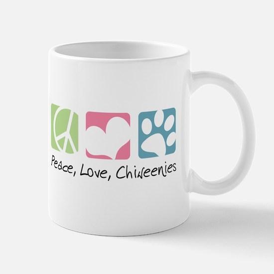 Peace, Love, Chiweenies Mug