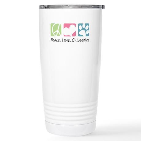 Peace, Love, Chiweenies Stainless Steel Travel Mug