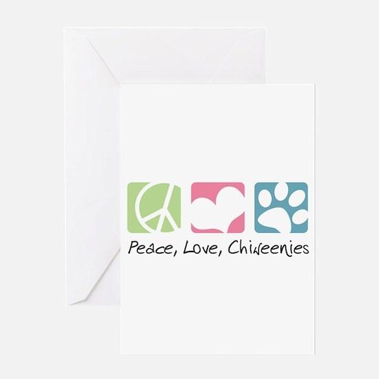 Peace, Love, Chiweenies Greeting Card