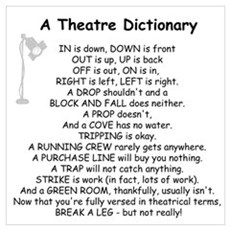 A Theatre Dictionary Poster