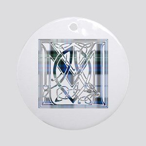Monogram-MacKenzie dress Round Ornament