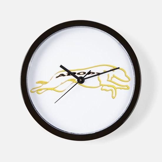 Adopt a Greyhound Yellow Wall Clock