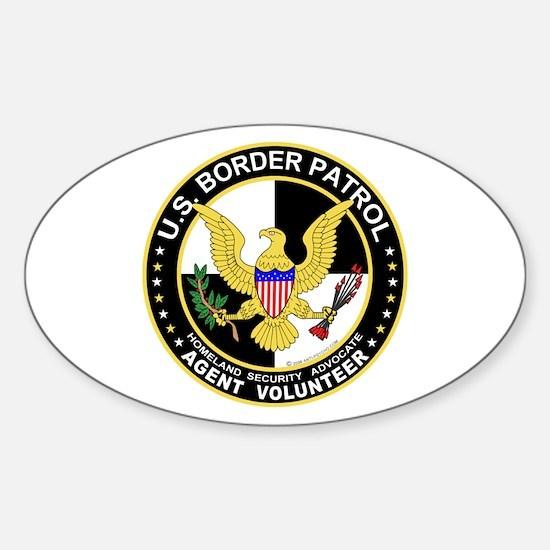 US Border Patrol Oval Decal