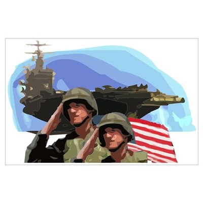 Armed Forces Tribute Poster