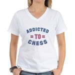 Addicted to Chess Women's V-Neck T-Shirt