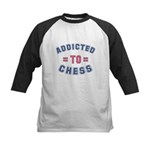 Addicted to Chess Kids Baseball Jersey