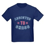 Addicted to Chess Kids Dark T-Shirt