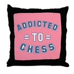 Addicted to Chess Throw Pillow