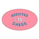 Addicted to Chess Sticker (Oval 50 pk)