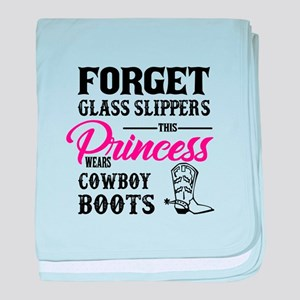 This Princess Wears Cowboy Boots baby blanket