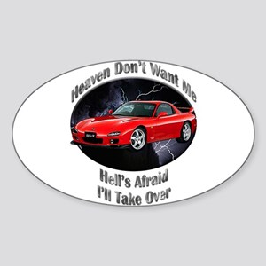 Mazda RX-7 Sticker (Oval 10 pk)