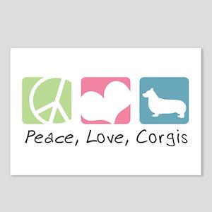 Peace, Love, Corgis Postcards (Package of 8)
