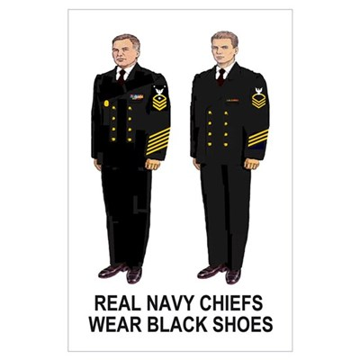 Real Navy Chiefs<BR> Print Poster