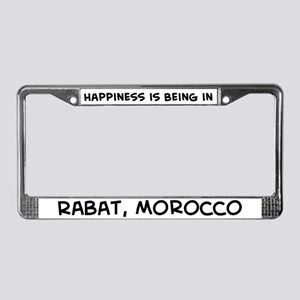 Happiness is Rabat License Plate Frame