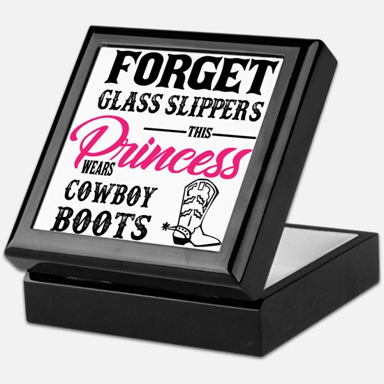 This Princess Wears Cowboy Boots Keepsake Box