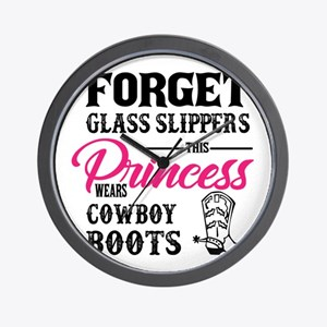 This Princess Wears Cowboy Boots Wall Clock