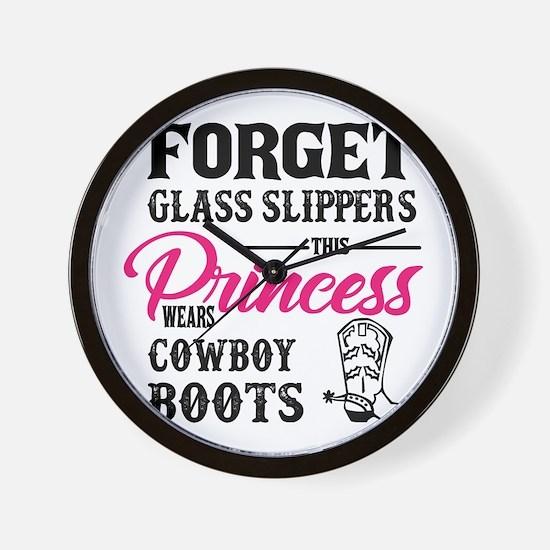 This Princess Wears Cowboy Boots Wall Clock